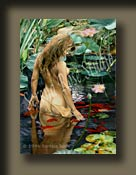 Nature's Innocent Beauty by Serena Rose is a timeless image of young woman in a pond communing with nature.