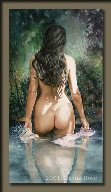 Beautiful, tasteful nude painting by contemporary visual artist Serena Rose
