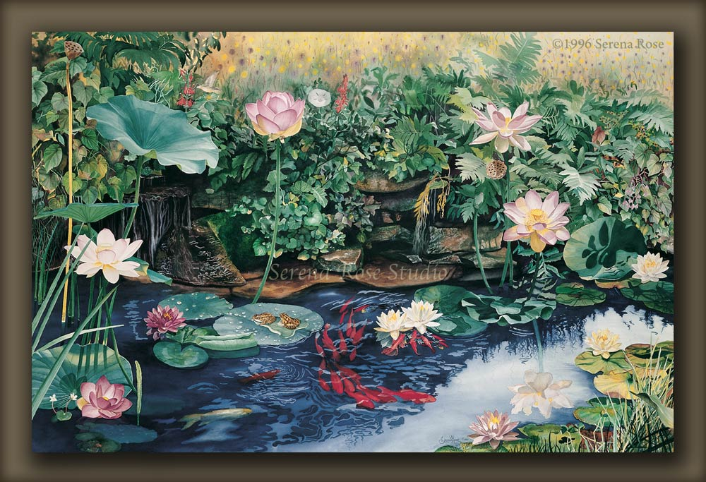 Giclee prints by Serena Rose, Pond of Dreams is a title that fits the image.